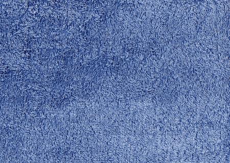 Abstracte blauwe textiel handdoek textuur. Achtergrond en textuur. Stockfoto
