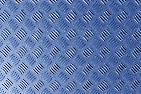 blue metal: blue metal textured floor surface. Color background and texture.
