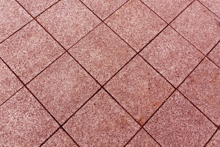 Red color pavement texture. Background and texture.