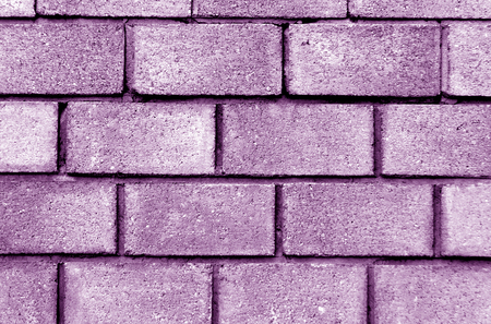 weathered: Violet color brick wall pattern. abstract architectural background and texture.