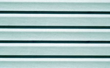 Cyan color plastic panel wall pattern. abstract architectural background and texture.