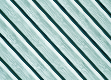 Cyan color pvc siding wall. Abstract background and texture for design. Stock Photo
