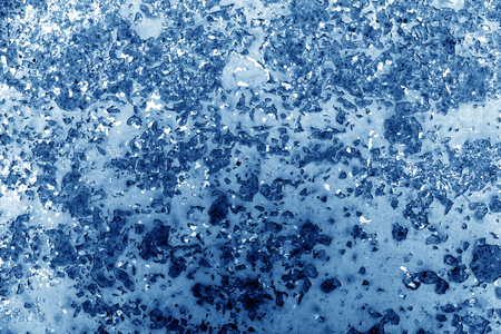 Blue toned rusted metal surface. abstract background and texture for design