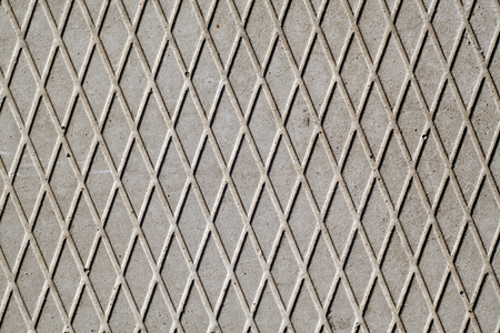 dirty room: Gray cement floor with dimond pattern. abstract background and texture for design.