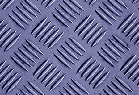 Blue color metal floor pattern. Abstract background and texture for design. Stock Photo