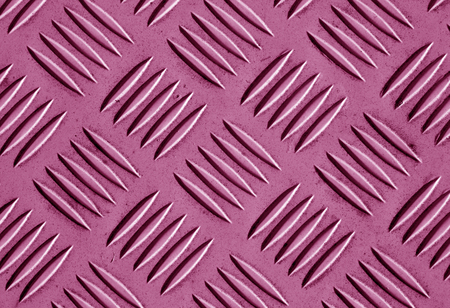 Pink color metal floor pattern. Abstract background and texture for design.