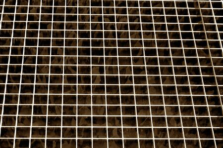 Metal grid texture in brown tone. Abstract background and texture for design.