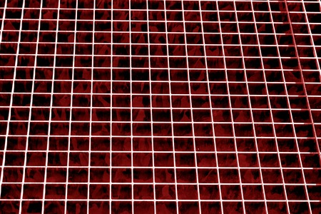 Metal grid texture in red tone. Abstract background and texture for design.