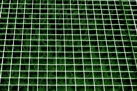 Metal grid texture in green tone. Abstract background and texture for design.