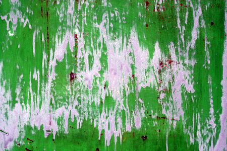 Weathered painted metal wall. Abstract background and texture.