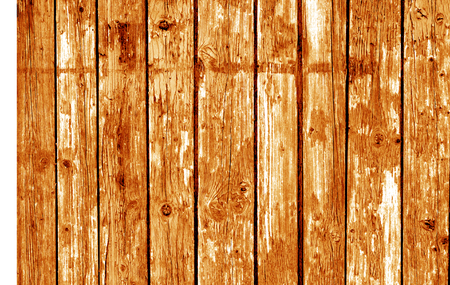 Wooden fence pattern in orange tone. Abstract background and texture for design.