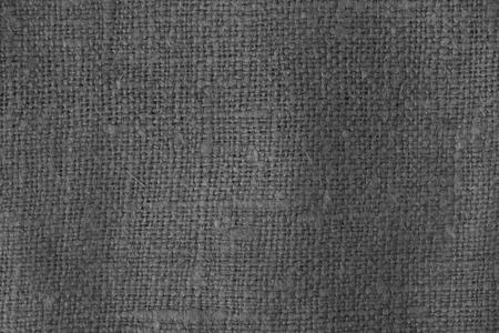 Texture de tissu de sac en noir et blanc. Abstrait et texture pour la conception.