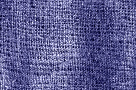 Sack cloth texture in blue color. Abstract background and texture.
