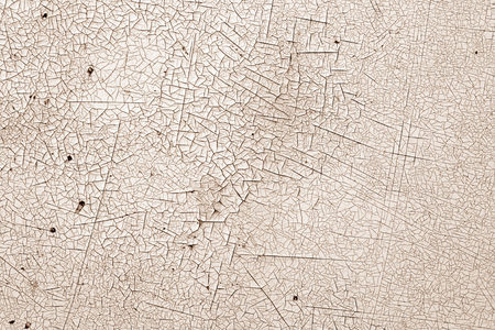 Crack and damage on painted texture in brown tone. Abstract background and texture for design. Stock Photo
