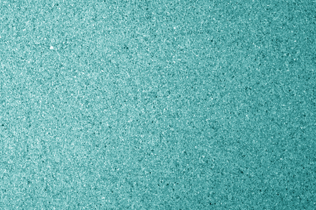 Natural cork texture in cyan color. Abstract background and texture for design.