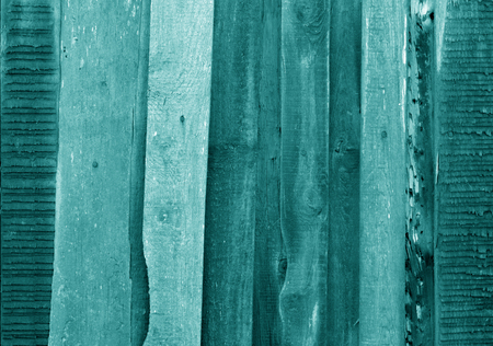 Old grungy wooden planks background in cyan tone. Abstract background and texture for design. Stock fotó