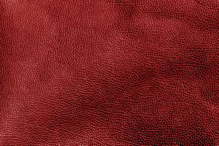 Weathered leather texture in red tone. Abstract background and texture for design and ideas. Stock Photo