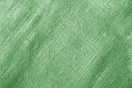 Sack cloth texture in green color. Abstract background and texture. Banque d'images