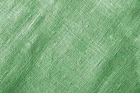 Texture de tissu de sac de couleur verte. Abstrait et texture.