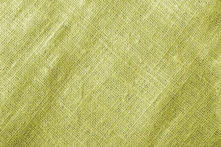 Texture de tissu de sac de couleur jaune. Abstrait et texture. Banque d'images
