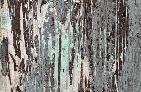 Weathered painted wooden wall. Abstract background and texture for design. Stock Photo