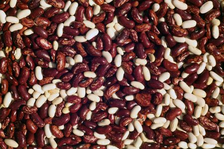 Soya beans close-up. Food and ingrediens.