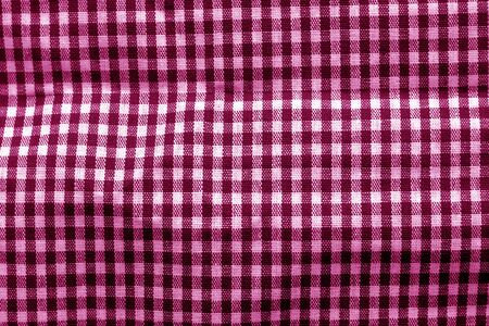 Checked fabric texture in pink tone. Abstract background and texture for design. Stock Photo