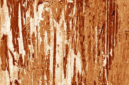 Weathered painted wooden wall in orange tone. Abstract background and texture for design.
