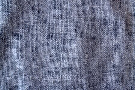 Blue color sack cloth texture with blur effect. Abstract background and texture. Stock Photo