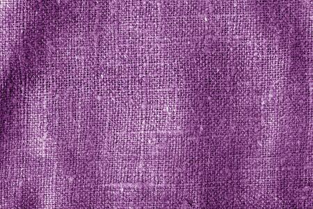 Texture de tissu de sac avec effet de flou de couleur violette. Abstrait et texture.