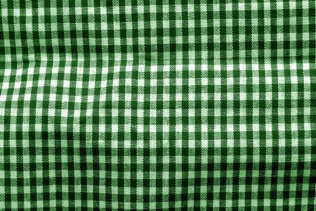 Checked fabric texture in green tone. Abstract background and texture for design. Reklamní fotografie