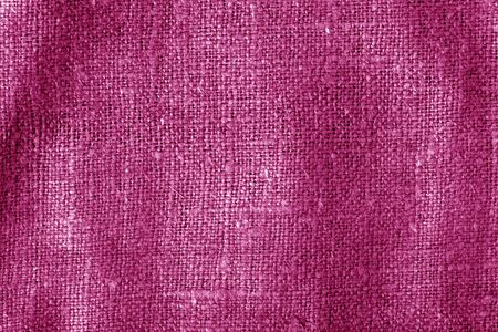 Sack cloth texture with blur effect in pink color. Abstract background and texture. Banque d'images