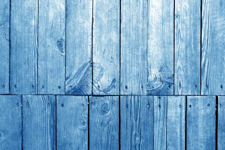 Old grungy wooden planks background in navy blue tone. Abstract background and texture for design. Banco de Imagens