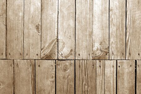 Old grungy wooden planks background in brown tone. Abstract background and texture for design.