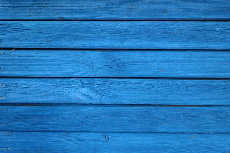Blue color old grungy wooden planks background. Abstract background and texture for design.
