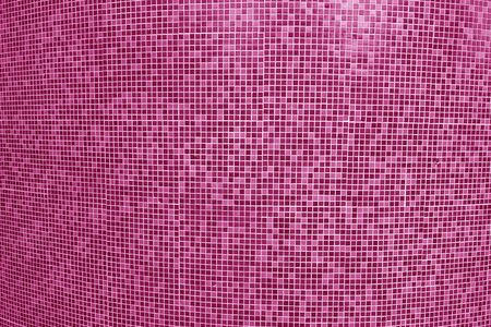 Tile mosaic of swimming pool in pink tone. Abstract background and texture for design. Stok Fotoğraf