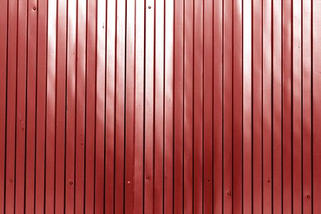 Metal list wall texture of fence in red color. Abstract background and texture for design. Stock fotó