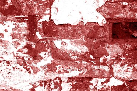 Old grungy brick wall texture in red tone. Abstract architectural background and texture for design. Stock fotó