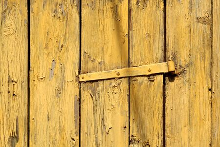 Yellow color grungy wooden planks background. Abstract background and texture for design. Stock fotó