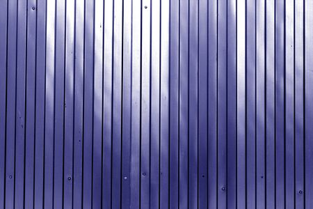 Metal list wall texture of fence in blue color. Abstract background and texture for design. Stock fotó
