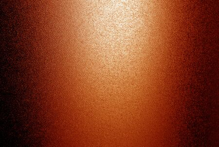 Ground glass texture with light in orange tone. Abstract background and pattern for designers.