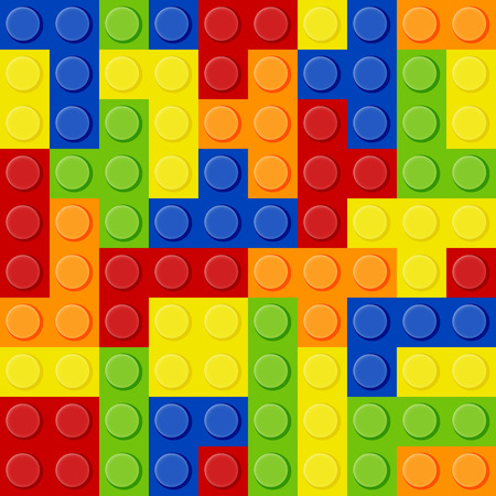 tetris: seamless pattern of the elements of Tetris in the form of Lego