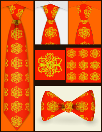 Background texture shown in a tie. Points tie and bow tie .Shortcut to tie. Vector