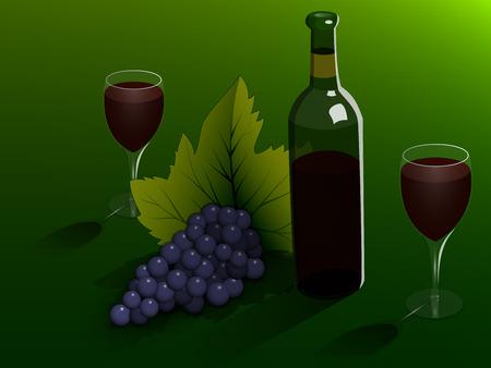 todavía la vida: el vino y la fruta