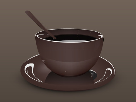 cup and saucer: brown Cup saucer and spoon
