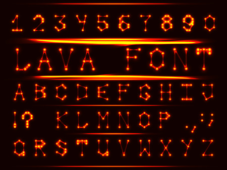 metal letters: Robotic font in the style of hot metal. The letters and numbers.