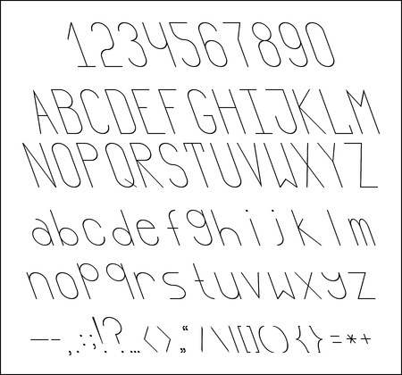 slope: A thin font with a reverse slope Illustration