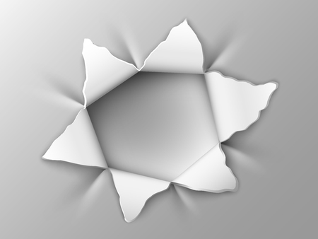 teared: the hole in the steel plate in the form of six-pointed stars