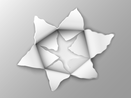 punched: two layers of punched steel plate in the shape of a star