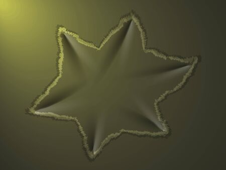 dent: dent on the metal plate in the form of six-pointed stars Illustration